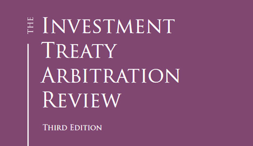 "Publication dans l' ""Investment Treaty Arbitration Review - Edition 3"""